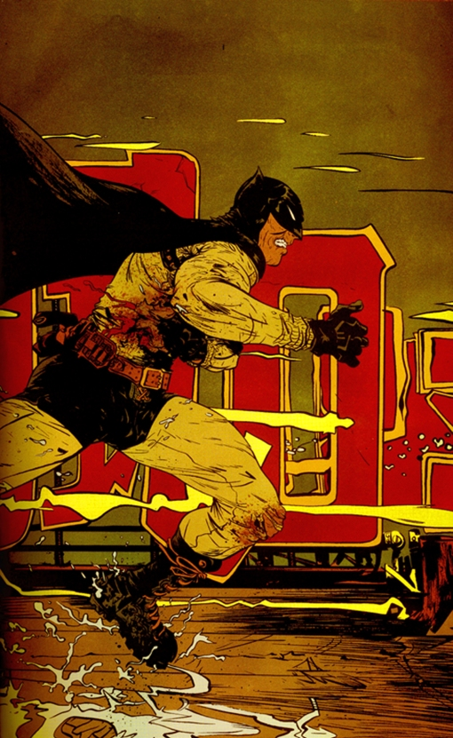 art: Paul Pope  color: Jose Villarrubia  book: Batman Year 100  publisher: DC  © DC